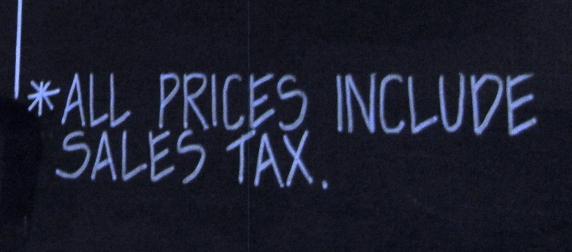 sales tax sign