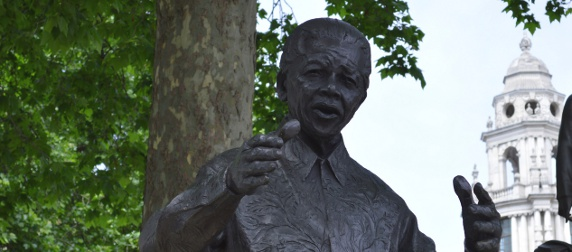 Nelson Mandela statute at Parliament Square