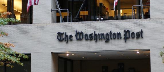 Washington Post building entrance