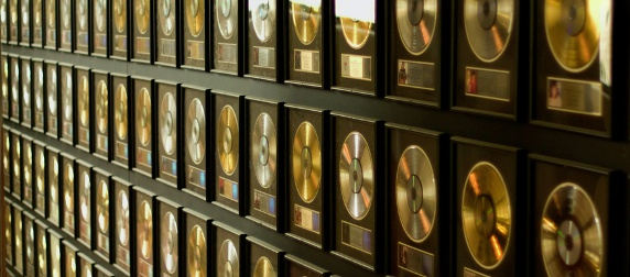 Country Music Hall of Fame gold records