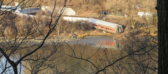 train derailment at Spuyten Duyvil