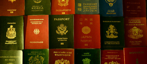 passports, from various nations