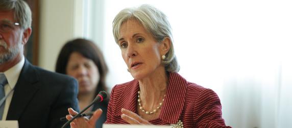 Kathleen Sebelius at a 2011 meeting in Geneva