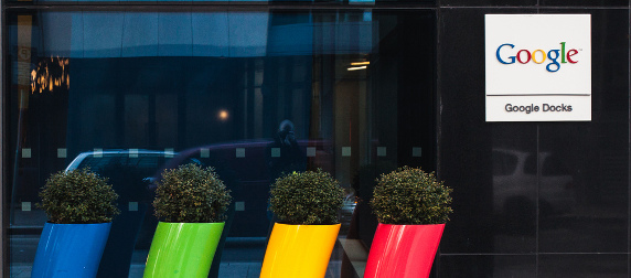 exterior of Google's EU headquarters in Dublin, Ireland