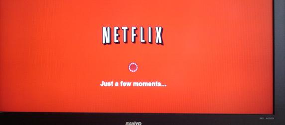 Netflix buffering on a TV screen