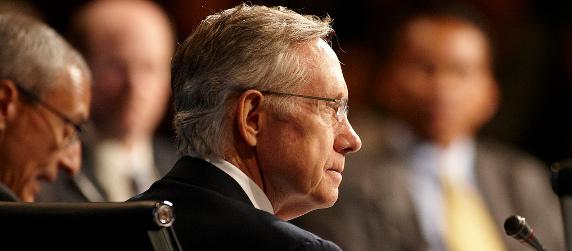 Sen. Harry Reid in profile