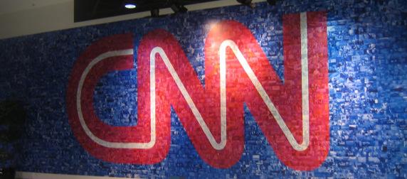 CNN logo wall mosaic