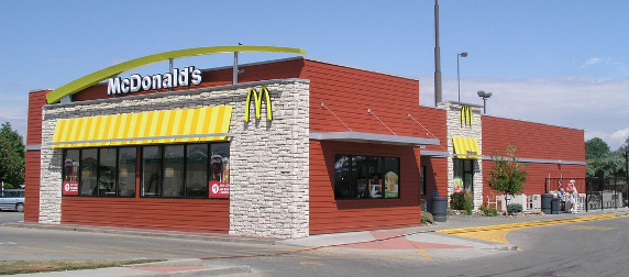 exterior of a McDonald's in Miles City, Montana