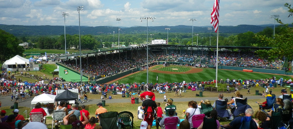Attendees at the Little League World Series at the Howard J. Lamade Stadium