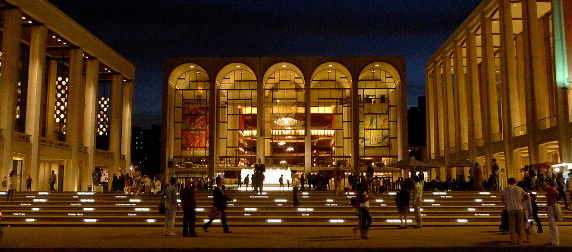 Lincoln Center exterior, night