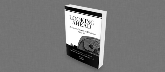 three-quarter view of the cover of Looking Ahead