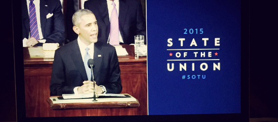 State of the Union 2015 banner viewed on a laptop screen