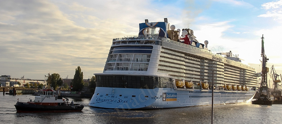 cruise ship Quantum of the Seas in harbor