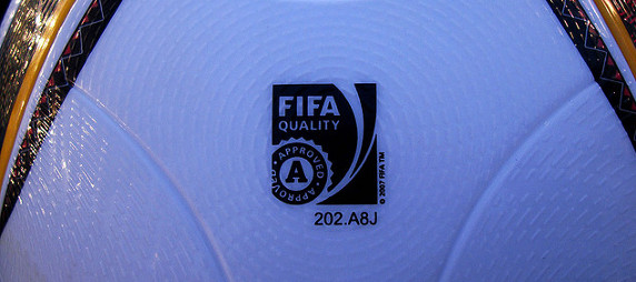 FIFA logo ball detail