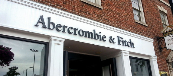 Abercrombie & Fitch storefront, red brick facade