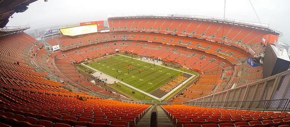 view of the interior of the Cleveland Browns' FirstEnergy Stadium