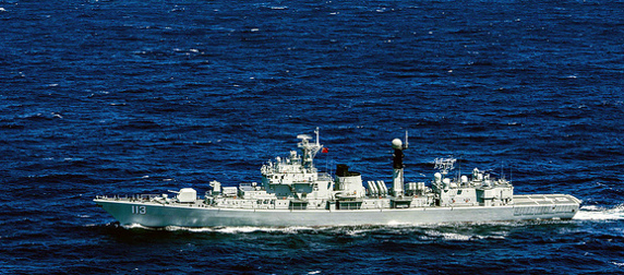 The People's Liberation Army-Navy destroyer Qingdao