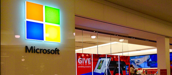Microsoft retail location storefront