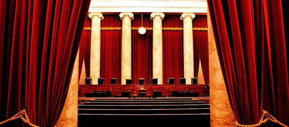 The U.S. Supreme Court chamber, empty