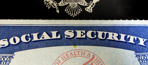 detail of a Social Security card