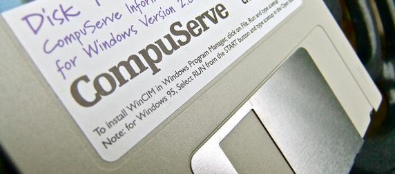 CompuServe floppy disk