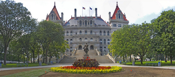 The New York Capitol in panorama view