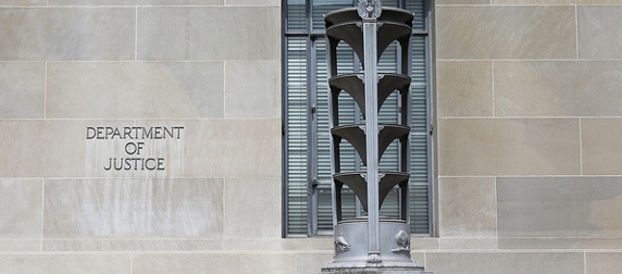 detail of the Robert F. Kennedy Department of Justice Building