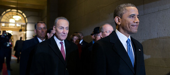 Chuck Schumer and President Obama