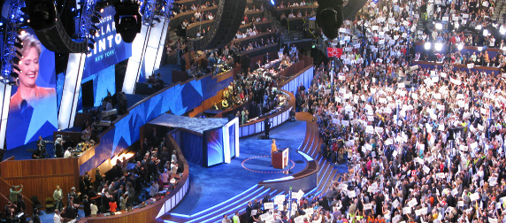 Hillary Clinton speaking at the 2008 Democratic National Convention