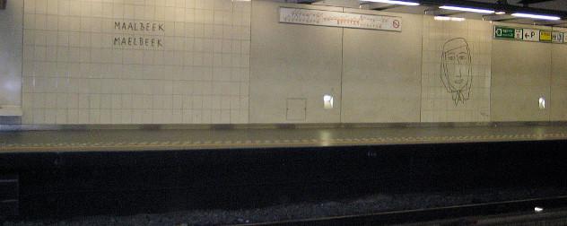interior of the Maalbeek/Maelbeek metro station in Brussels