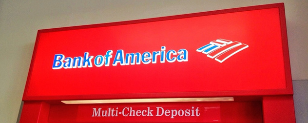 Bank of America ATM sign