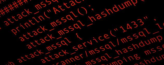 sample Cortana script in red against a black background