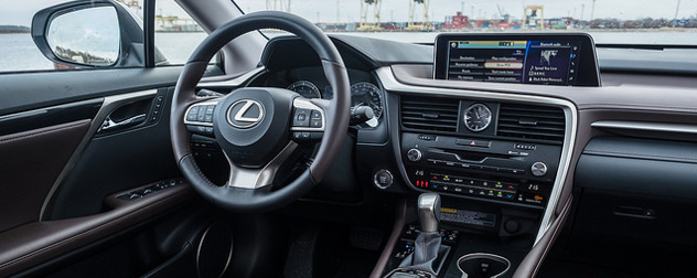 dashboard of a Lexus RX 2016