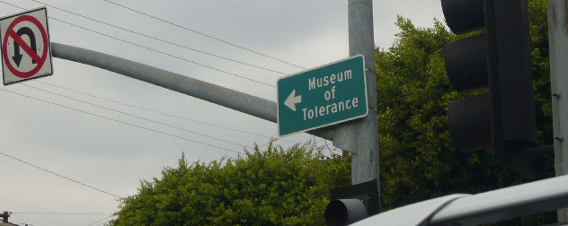 Museum of Tolerance road sign