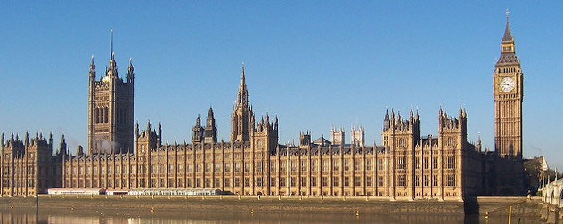 The Palace of Westminster, viewed across the River Thames