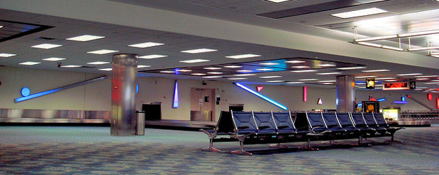 empty baggage claim at Fort Lauderdale-Hollywood International Airport