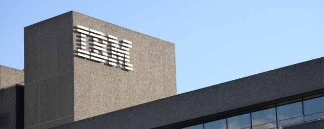 building exterior with IBM logo
