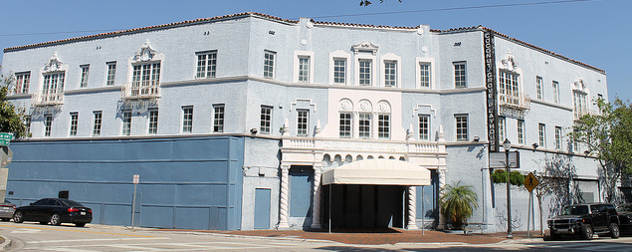 The shuttered Coconut Grove Playhouse