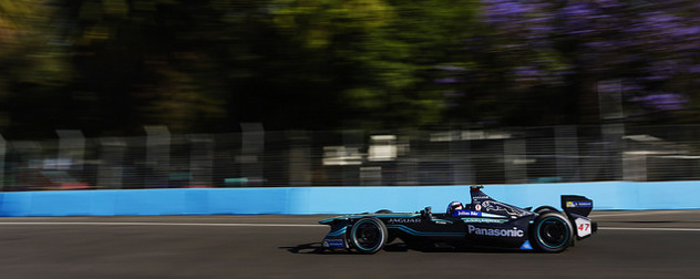 Formula E car by Panasonic and Jaguar in competition
