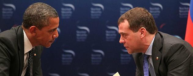 Barack Obama and Dmitry Medvedev