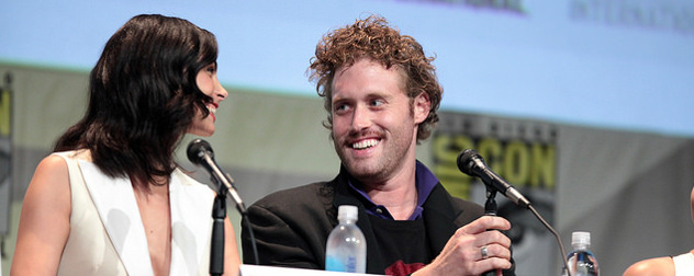 Morena Baccarin and T.J. Miller on a Comic Con panel