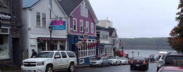 tourist shops in Bar Harbor, Maine