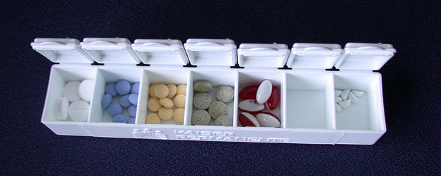 filled and open pill box