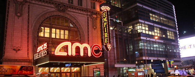 exterior of AMC Empire 25 theater in New York City