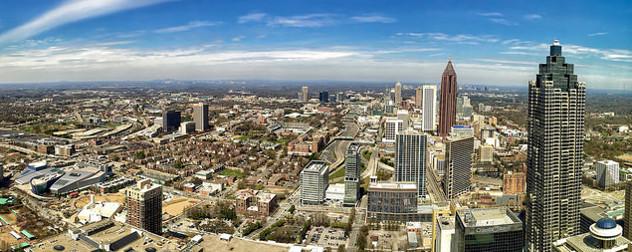 panoramic view of the Atlanta skyline