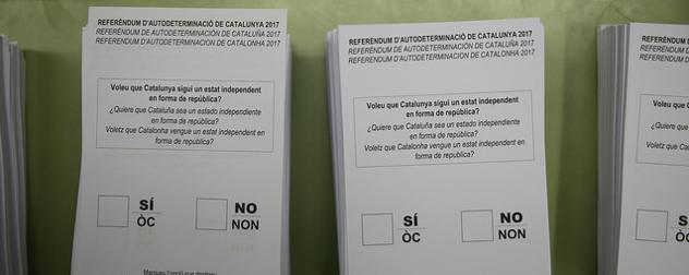 Catalonia ballots from Oct. 1, 2017