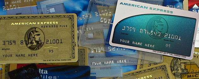 pile of promotional American Express cards