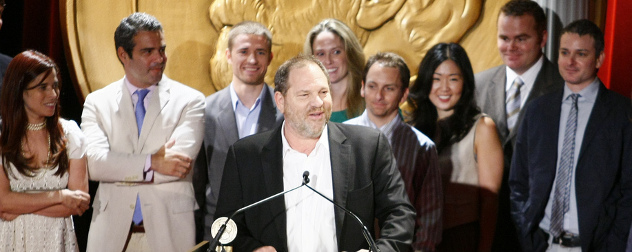 Harvey Weinstein speaking at the 2008 Peabody Awards