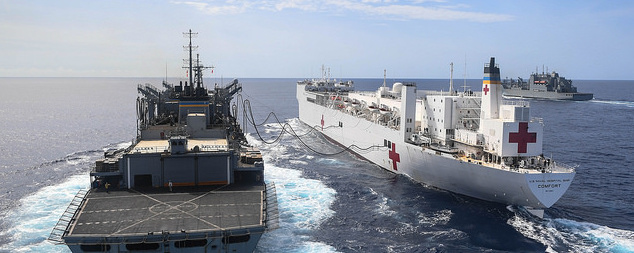 the USNS Comfort, the USNS William McLean and the USNS Supply