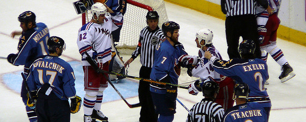 2007 NHL game, Atlanta Thrashers vs. New York Rangers